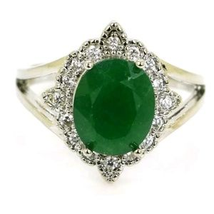 New regal real emerald ring